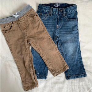 2 pairs denim